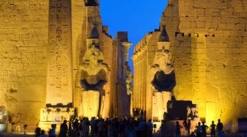 Egypt_ Luxor_ temple at night